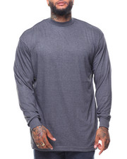 Men - L/S Long Solid Crew Neck Tee (B&T)