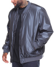 Men - Nylon Big Zipper Bomber Jacket (B&T)