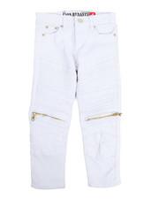 Arcade Styles - Bull Zipper Stretch Moto Jean (4-7)