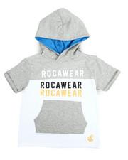 Tops - S/S Rocawear Hoodie Tee (4-7)