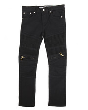 Bottoms - Bull Zipper Stretch Moto Jean (8-20)