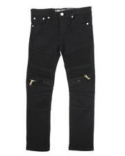 Arcade Styles - Bull Zipper Stretch Moto Jean (8-20)