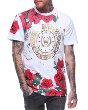 SWITCH - S/S Floral Printed Foil Tee
