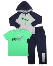 Puma - 3 Piece Hoodie, Tee & Pant Set (4-7)
