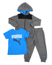 Puma - 3 Piece Hoodie, Tee & Pant Set (2T-4T)