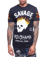 T-Shirts - BURNING SKULLS S/S TEE