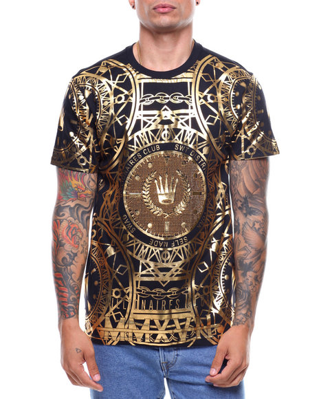 SWITCH - S/S Stones Gold Foil Tee