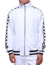 Track Jackets - CHECKERED TRACK JACKET