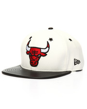 NBA, MLB, NFL Gear - 9Fifty Custom Faux Leather Two Tone Bulls Snapback
