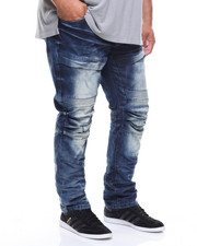 SMOKE RISE - Cargo Biker Denim Jeans (B&T)