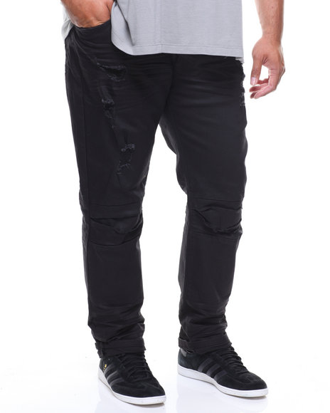 SMOKE RISE - Basic Knee Split Denim Jeans (B&T)
