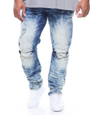 Big & Tall - Basic Knee Split Denim Jeans (B&T)