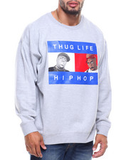 Big & Tall - L/S Thug Life Hip Hop Sweatshirt (B&T)