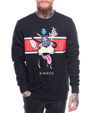 Men - Chest Stripe Huka Crewneck Sweatshirt