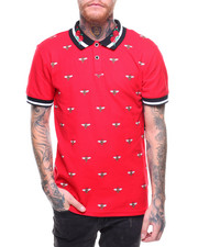 Buyers Picks - S/S All Over Bee Print Contrast Collar Polo