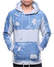 Buyers Picks - FLEECE W DENIM DETAIL HOODY