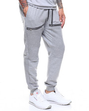 Jeans & Pants - FLEECE MOTO JOGGER W ZIP DETAIL