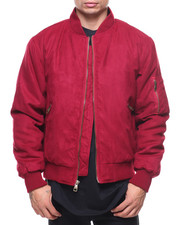 The Classic Bomber Jacket - Delight Faux Suede Bomber Jacket