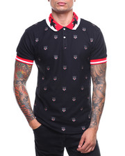 Buyers Picks - S/S All Over Panther Print Contrast Polo