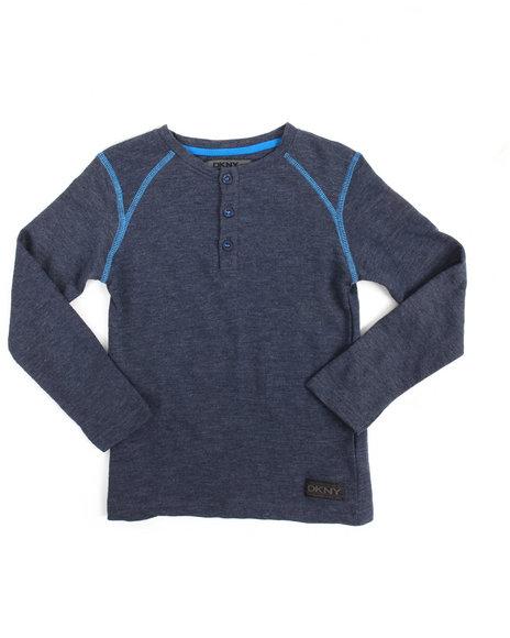 DKNY Jeans - L/S Terry Slub Henley (4-7)