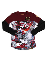 SWITCH - L/S Cut Block Foil Print Tee (8-20)