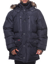 Men - Base Camp Fur Hooded Bubble Jacket (B&T)