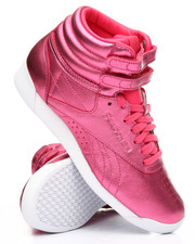 Reebok - Freestyle Hi Metallic Sneakers