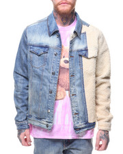 Denim Jackets - LAMPREY SHERPA DENIM JACKET