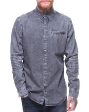 Men - L/S BIKER DENIM SHIRT