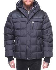 Heavy Coats - Motts Hooded Solid Yoke Jacket Ribbed Inside