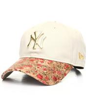 New Era - 9Twenty Custom Floral Brim Yankees Large Gold Badge Dad Hat