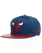 Hats - 9Fifty Custom Faux Suede Bulls Strapback Hat