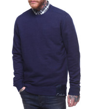 Men - HERITAGE LABEL INDIGO FLEECE CREW