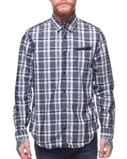 Men - JASPE PLAID L/S SHIRT W ZIP POCKET