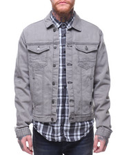 Men - Grey Rinse Trucker Jean Jacket