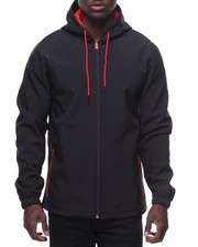 Akademiks - Nylon Shell Inside Polar Fleece Jacket W Hoodie