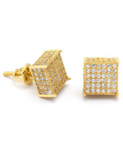 King Ice - King Ice 14K Gold 3D Hip Hop Earrings