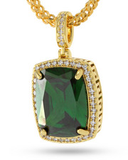 King Ice - 14K Gold Emerald Crown Julz Collection