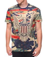 Men - S/S Crest Flag Americana Camo Tee
