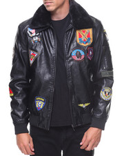 Light Jackets - All Over Patch Jacket W/Faux Fur