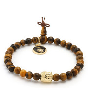 King Ice - Buddha Beaded Meditation Bracelet Tiger Eye