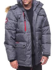 Heavy Coats - Bubble Faux Fur Hooded Contrast Zipper Jacket