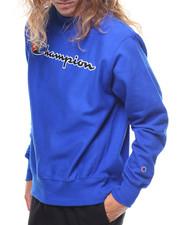 Champion - Reverse Weave Full Script Crew Sweatshirt
