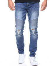 Jeans & Pants - Ripped Knee Motto Jeans