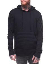T-Shirts - Moto Pocket Pullover Hoodie