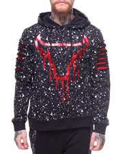SWITCH - Paint Splatter Bulls Pullover Hoodie