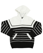 Sweatshirts & Sweaters - Stripe Pullover Hooded Sweater (2T-4T)