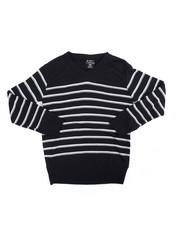 Sweaters - Multi-Color Stripe V-neck Sweater (8-20)