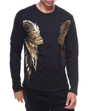 Buyers Picks - L/S Studded Foil Double Wing Print
