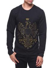 T-Shirts - L/S Studded Foil Bird Print Tee